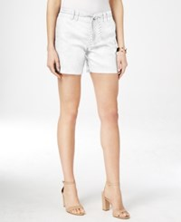 Inc International Concepts Linen Belted Shorts Only At Macy's Bright White