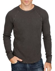 Lucky Brand Lived In Thermal Crewneck Tee Black Mount