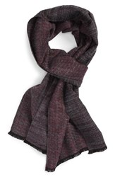 Calibrate Men's Vintage Plaid Scarf Burg