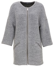 Hallhuber Chunky Knit Knit Coat With Zipper Detail Light Grey