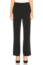Giambattista Valli Cropped Flare Cady Trousers In Black