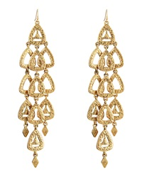 Rj Graziano R.J. Graziano Hammered Triangle Chandelier Earrings