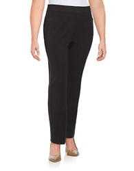 Rafaella Plus Curvy Slim Leg Dress Pants Graphite