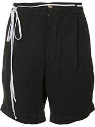 The Squad Tie Detail Shorts Black