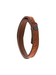 Diesel Leather Bracelet Brown