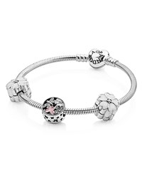 Pandora Design Pandora Flowers From The Heart Bracelet Gift Set Moments Collection Silver