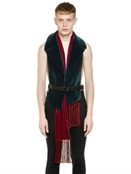 Haider Ackermann Velvet Shawl With Lapels