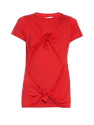 Marques Almeida Slashed Knotted Short Sleeved T Shirt