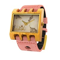 Mistura Wooden Lenzo Watch Salmon Se