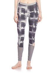 Free People Hendrix Patterned Leggings Grey Combo