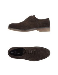 Lace Up Shoes Dark Brown
