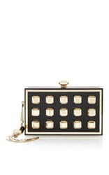 Elie Saab Black And Gold Brass Clutch