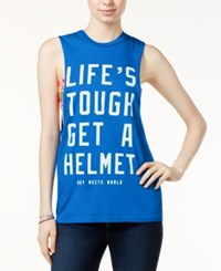 Bioworld Juniors' Life's Tough Graphic Tank Top Blue