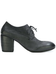 Marsell Wood Heel Lace Up Shoes Black