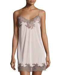 Natori Enchant Lace Trimmed Chemise Natural W Lace