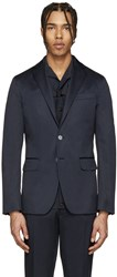 Dsquared Navy Cotton Blazer