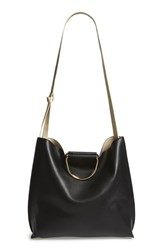 Street Level Slouchy Faux Leather Tote Black