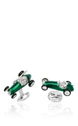 Deakin And Francis Race Car Cufflinks Green