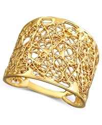 Macy's 14K Gold Wire Filigree Ring