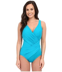 Miraclesuit Solid Oceanus One Piece Dd Cup Lagoon Women's Swimsuits One Piece Blue