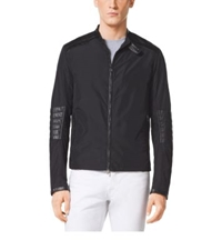 Michael Kors Quilted Leather And Nylon Jacket Black