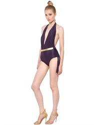 Lenny Niemeyer Belted Lycra One Piece Bathing Suit
