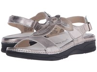 Drew Shoe Alana Pewter Bronze Leather Women's Sandals