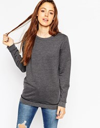 Asos The Ultimate Boyfriend Sweat In Cotton Charcoal