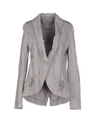 European Culture Suits And Jackets Blazers Women Light Grey