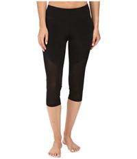 Zobha Fitted Capris With Contrast Mesh Black Women's Capri