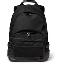 Ami Alexandre Mattiussi Mesh Trimmed Canvas And Leather Backpack Black