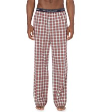Ralph Lauren Watford Checked Cotton Pyjama Bottoms Red Multi