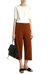 Tibi Anson Stretch Sailor Trousers Brown