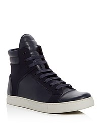 Kenneth Cole Double Header High Top Sneakers Navy