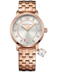 Juicy Couture Women's Socialite Rose Gold Tone Bracelet Watch With Charm 36Mm 1901476