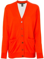 Marc By Marc Jacobs Panelled Button Cardigan Yellow And Orange