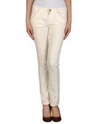 Maison Espin Casual Pants Ivory