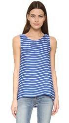 Cupcakes And Cashmere Onassis Striped Tank Marine