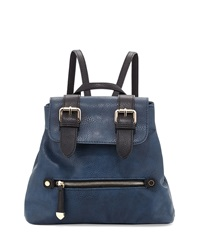 Neiman Marcus Kelly Mini Colorblock Backpack Navy Black