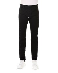 Alexander Mcqueen Straight Leg Coated Jeans Black