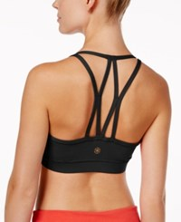 Gaiam Iris Low Mid Impact Sports Bra Black