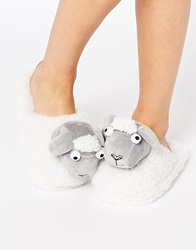Asos Nessa Sheep Slippers White