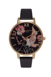 Topshop Olivia Burton Oriental Opulence Black And Gold Watch