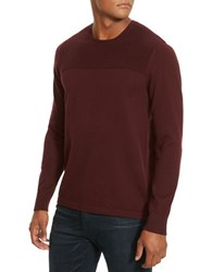 Kenneth Cole Textured Crewneck Sweater Merlot