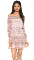 Shoshanna Rosalyn Dress Apricot Multi