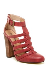Michael Antonio Jason High Heel Sandal Red