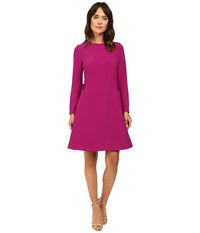 Ted Baker Emorly Side Pleat Long Sleeve Dress Purple Women's Dress