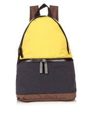Marni Tri Colour Nylon Backpack Navy Multi