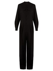 Christophe Lemaire Patch Pocket Wool Jumpsuit Black