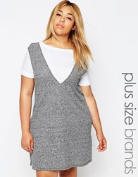 Pink Clove 2 In 1 Shift Dress Gray